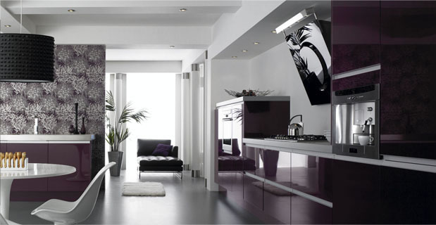 Kitchen design Metro Aubergine