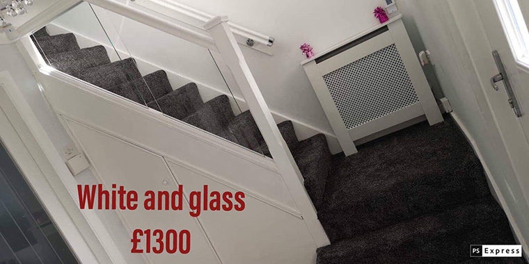 Glass staircase price